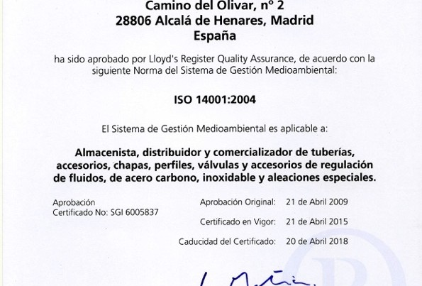 ISO 14001 2018 Sp
